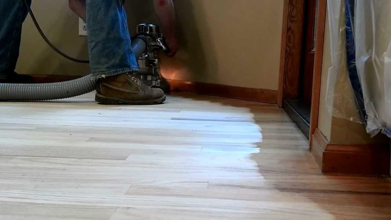 Sanding New Hardwood Floors Hardwood Floor Refinishing The Sanding Filling Process Youtube