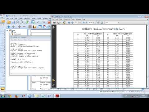 Video Tutorial Uji Validitas Dan Reliabilitas SPSS Lengkap