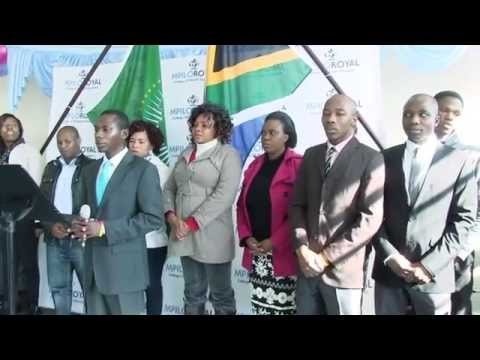 South Africa National Anthem is the way to go at Mpilo Royal College