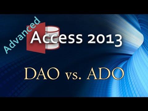 9. (Advanced Programming In Access 2013) DAO vs ADO