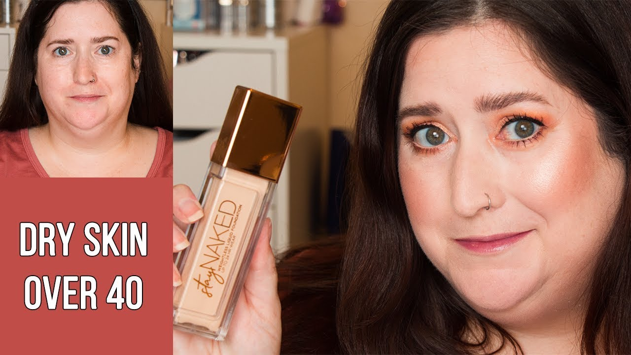 URBAN DECAY STAY NAKED FOUNDATION & CONCEALER | Dry Skin Review & Wear Test