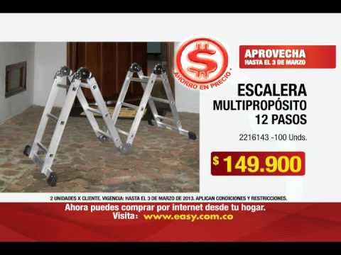 Escalera multiproposito con 3 ejes de rotaci n x for Escalera multiproposito