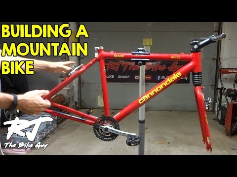 Building A Mountain Bike From A Cannondale F500 MTB Frame