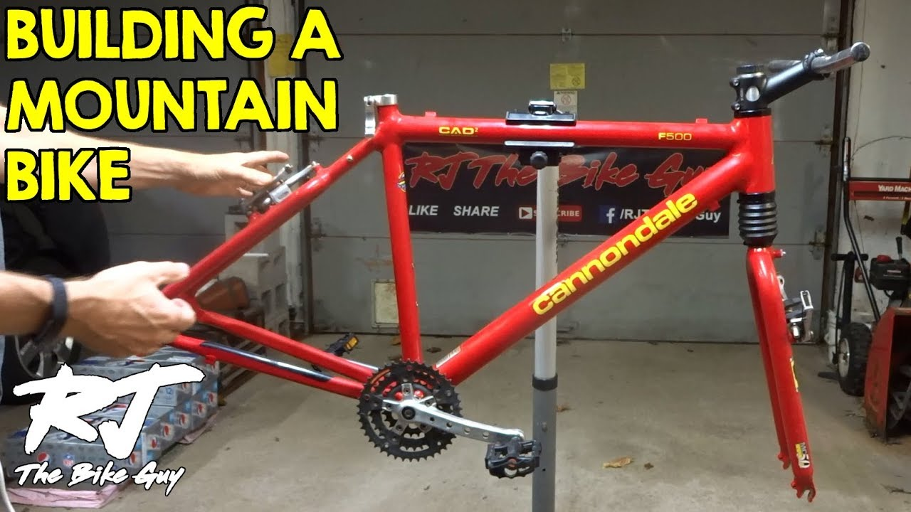 831add1cbce Building A Mountain Bike From A Cannondale F500 MTB Frame - YouTube