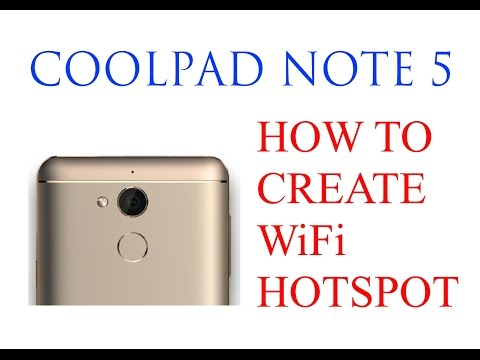 How to create WiFi Hotspot on CoolPad Note 5 (4GB RAM) - YouTube