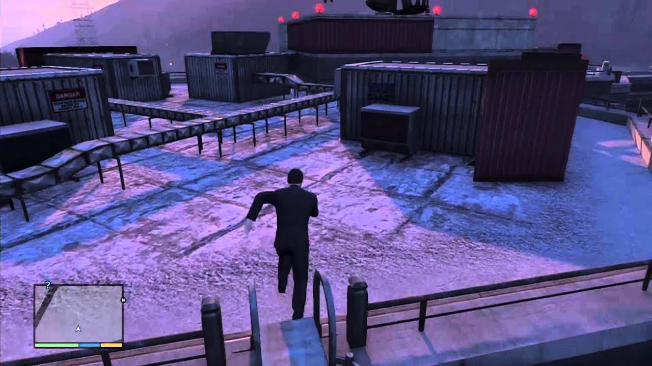 GTA V - Buzzard Attack Chopper/NOOSE HQ LOCATION - YouTube