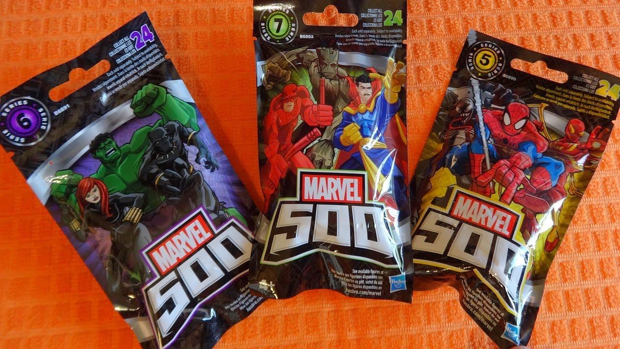 Marvel 500 9 Blind Bags New Series 7 6 5 24 Surprise