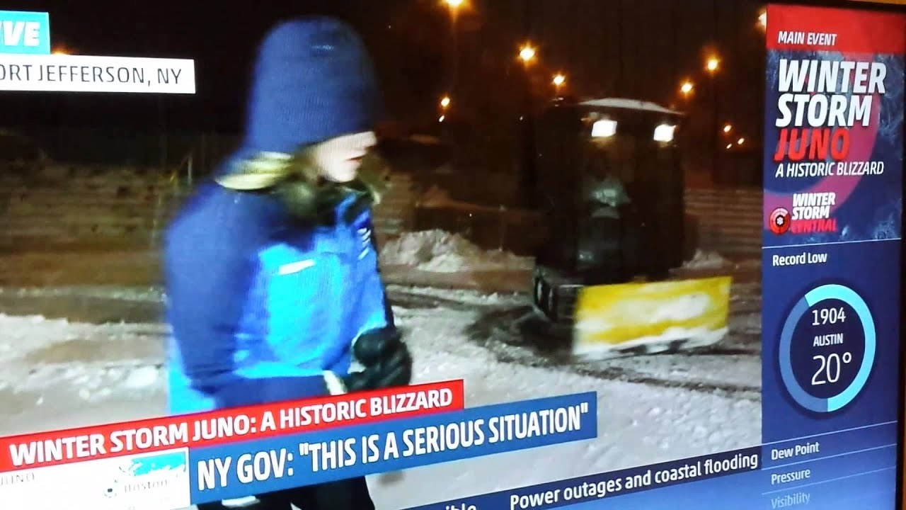 juno storm new york city snow plow donuts weather channel