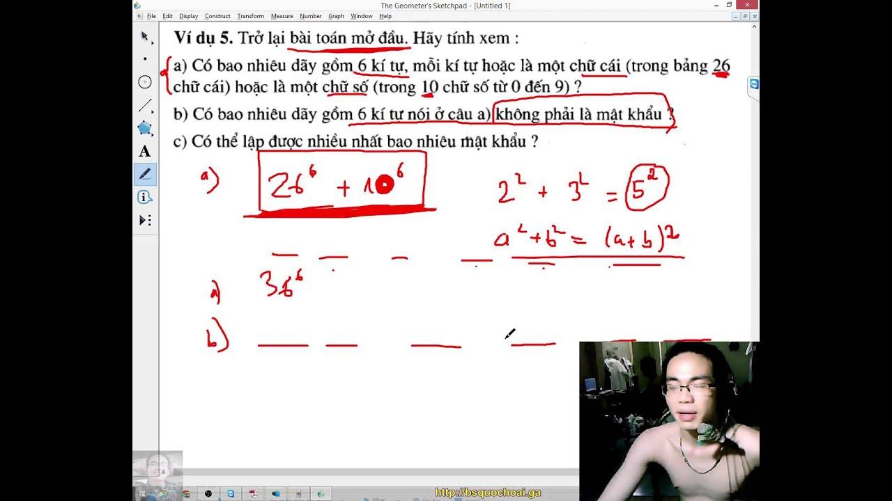 [Toán 11 GT] Chương 2 – Tổ hợp xác suất (1) – Bài 1 – Hai quy tắc đếm – cộng nhân