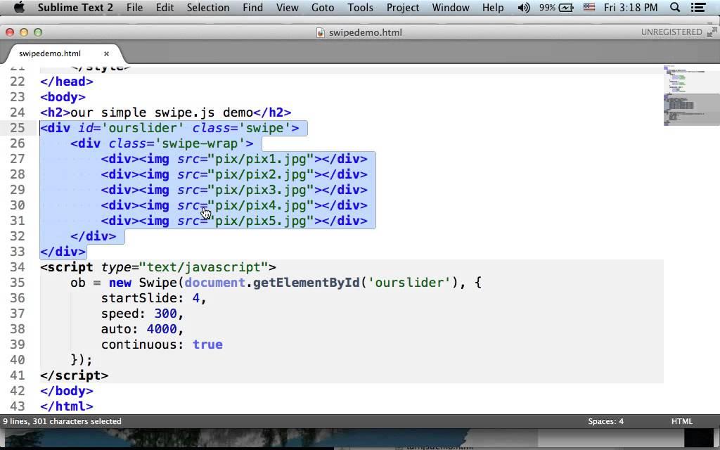 Swipe js Simple Demo