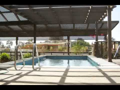 modern penthouse with large roof terrace pergola and swimming pool youtube. Black Bedroom Furniture Sets. Home Design Ideas