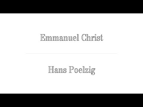 Emanuel Christ (Christ & Gantenbein) x Hans Poelzig ; The Difficult Double