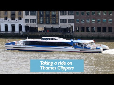 A Trip On Thames Clippers