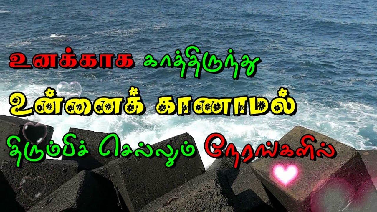 Tamil Love Whatsapp Status Video Love Feeling Sad Quotes Youtube