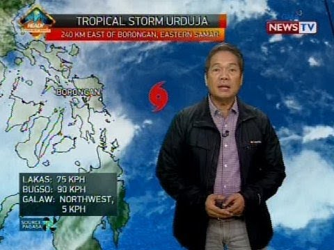 Bagyong Urduja, posibleng mag-landfall bukas ng gabi sa Eastern Samar