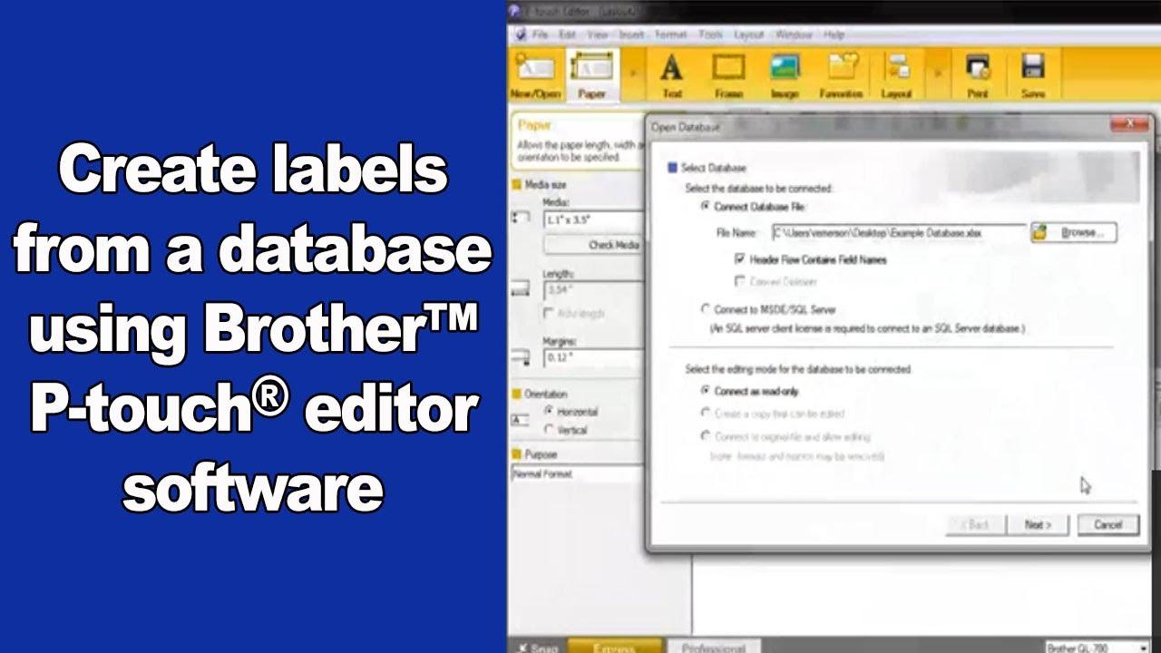 brother label maker software download