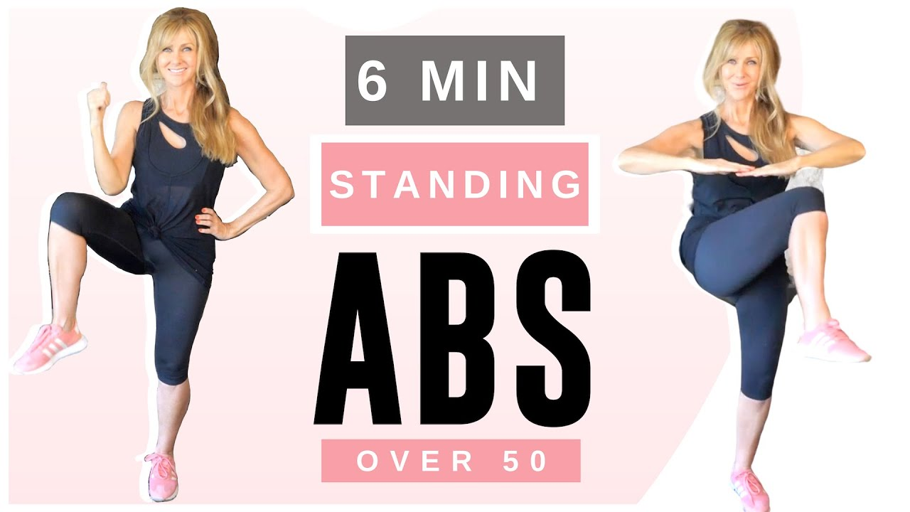 6 Minute Standing Abs Indoor Workout Over 50 | Low Impact!