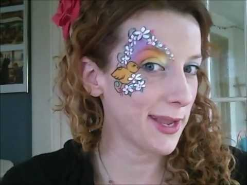 Easter and Spring Time Face Painting Design! - YouTube