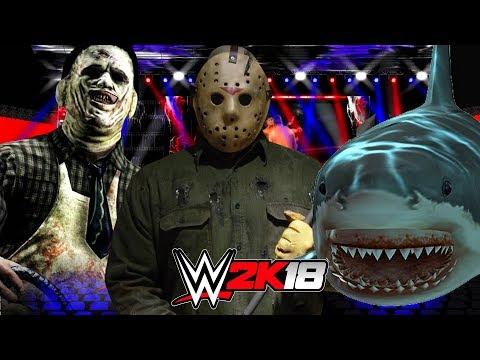 WWE 2K18   JASON VOORHEES vs JAWS vs LEATHERFACE Horror Title
