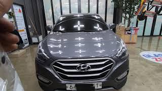 현대자동차 투싼 차량 옵션이 없는 레인센서 기능의 시공…