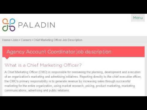 Example Of A Chief Marketing Officer Job Description - YouTube