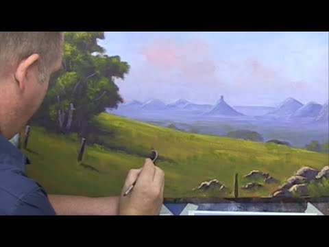 """Learn To Paint TV E6 """"The Glass House Mountains"""" Acrylic Painting Tutorial."""