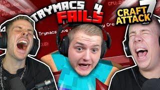NICHT Lachen: TRYMACS Craft Attack MINECRAFT FAILS!!
