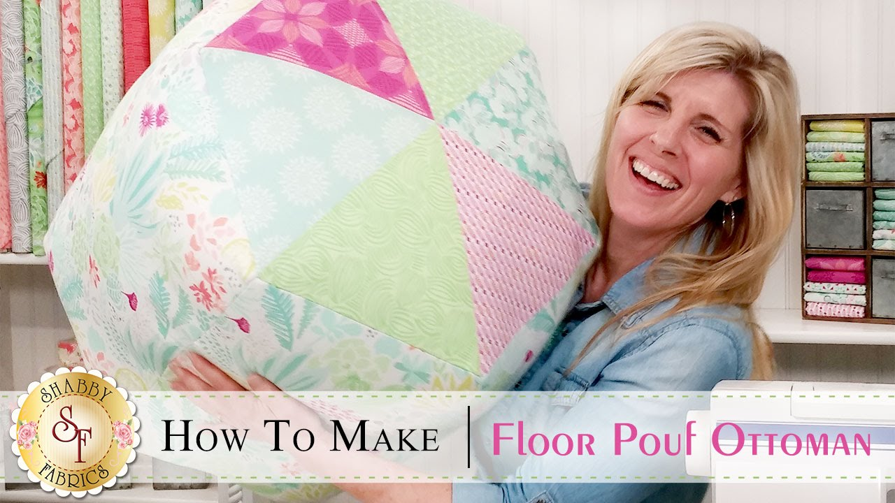 how to make a floor pouf ottoman a shabby fabrics sewing. Black Bedroom Furniture Sets. Home Design Ideas