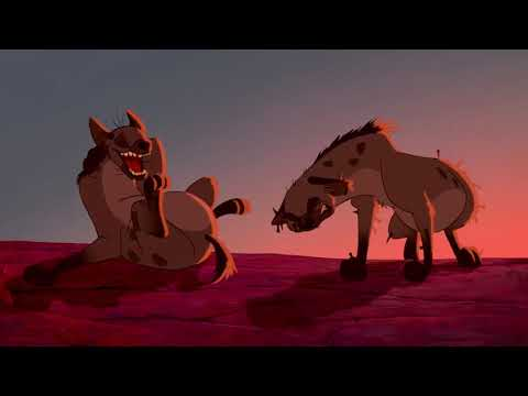 Король лев (The Lion King). Озвучка Живова. Симба убегает от гиен