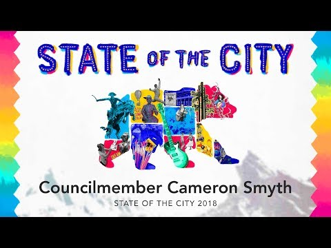 Councilmember Cameron Smyth - State of the City 2018