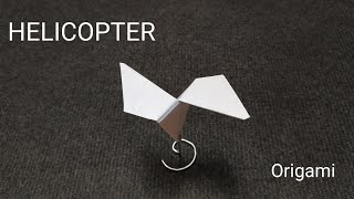ORIGAMI PAPER HELICOPTER. How to make a paper Propeller.