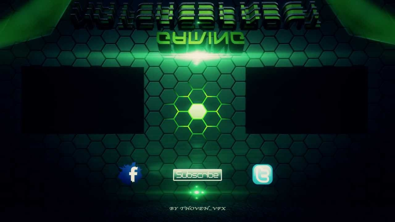 Outro natchesprout outro green metal texte 3d flares youtube for Outro image