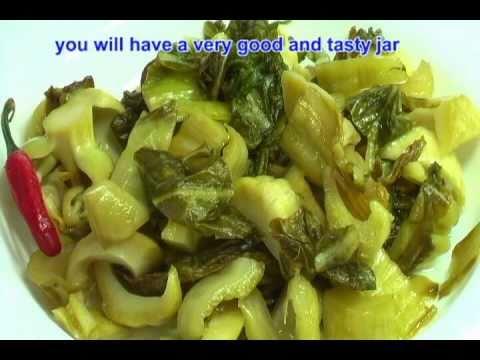 0 Vietnamese Food How to Make Mustard Green Pickles   Day Nau An Cai Chua