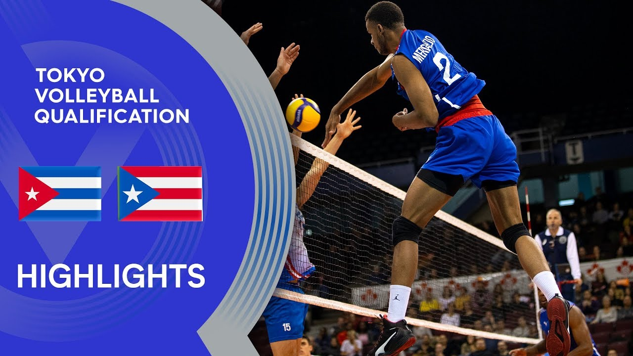 Cuba vs. Puerto Rico - Highlights | NORCECA Men's Tokyo Volleyball Qualification 2020