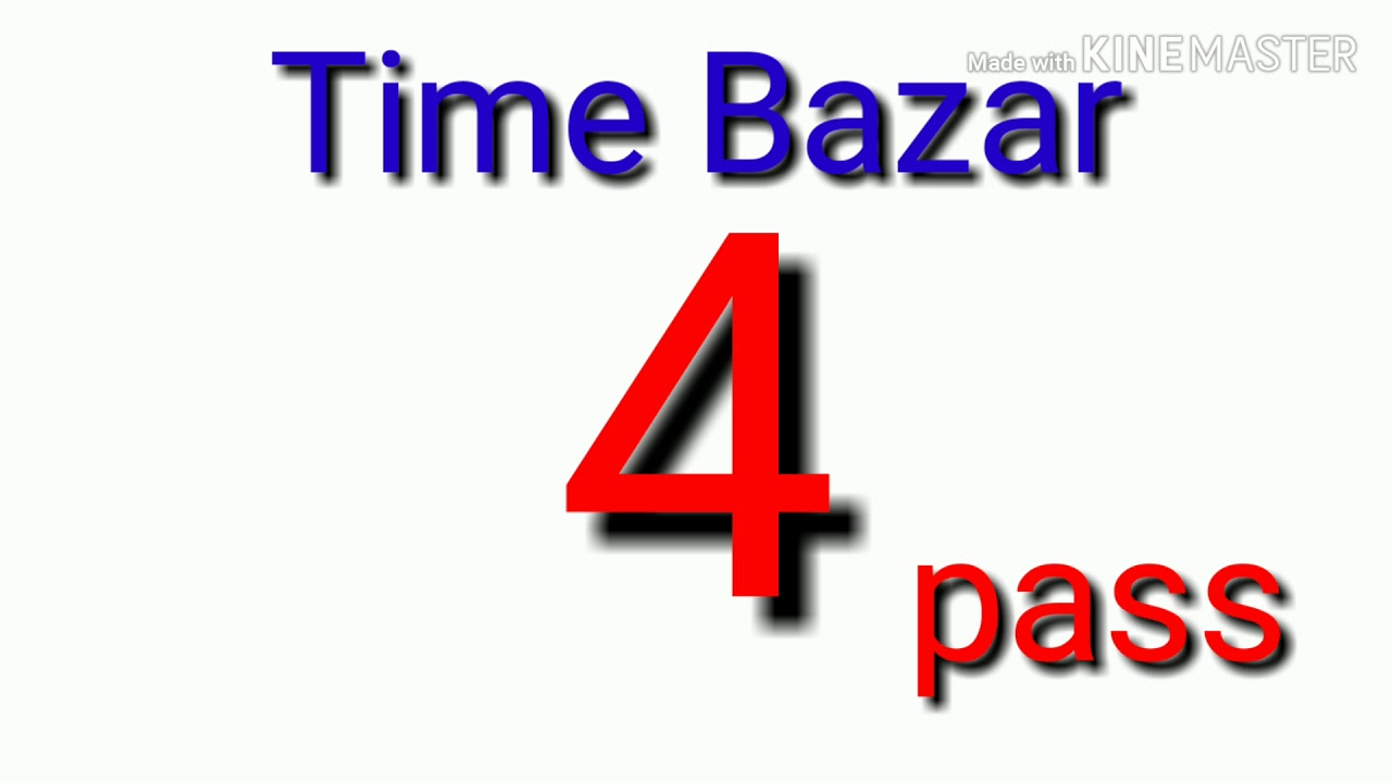 c1e441caff Time bazar 4 Pass Running BY AP SATTA MATKA BOSS.... - YouTube