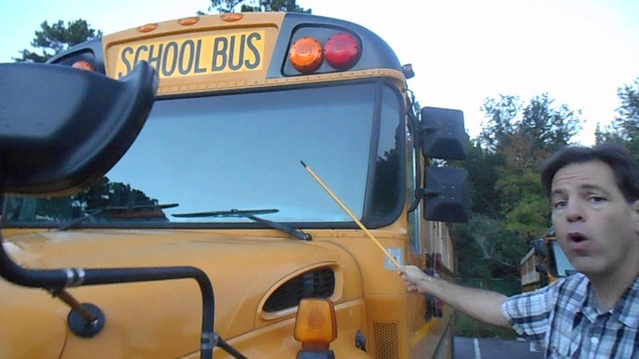Pre-trip  U2013 Front Of School Bus  U2013 Class B Cdl