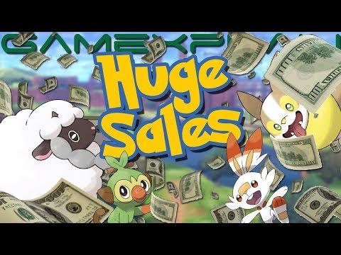 Pokémon Sword & Shield Sales Are INSANE! Best Switch Launch Yet – Beating Smash Bros. (Japan & UK)