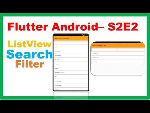 Flutter Widgets → Flutter SearchView ListView – Search/Filter
