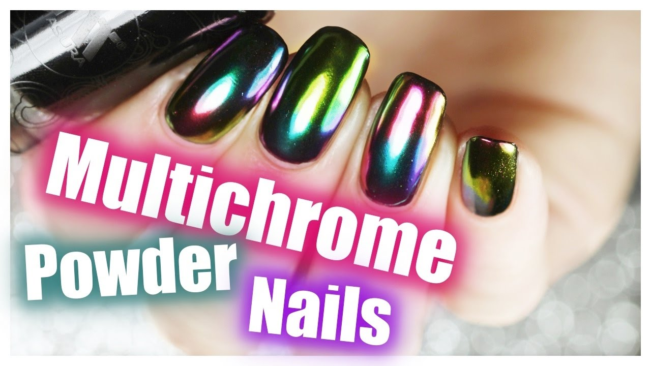DIY Multichrome Powder Oil Slick Nails Using Regular Nail polish ...