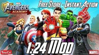MARVEL Avengers Academy 1.24.0 Mod (Free Store, Instant Action, Free Upgrade) APK & iOS