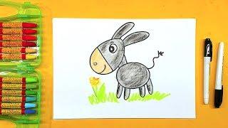Рисунок ОСЛИКА / Учимся рисовать Животных с РыбаКит