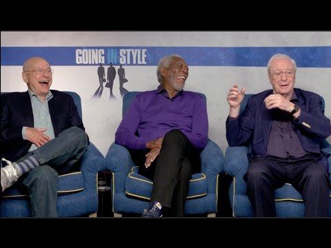 GOING IN STYLE interviews - Michael Caine, Morgan Freeman, Alan Arkin, Zach Braff, Ann-Margret Mp3