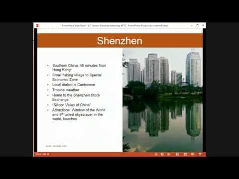 UT Austin Internship: Shenzhen