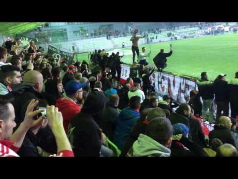 MFK Karviná - SK Slavia Praha 1:2 (Vítězná děkovačka Sešívaných)