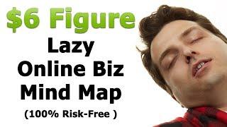 LIVE: 6-Figure Lazy Online Business Mind Map (The Process) + Cash giveaways.