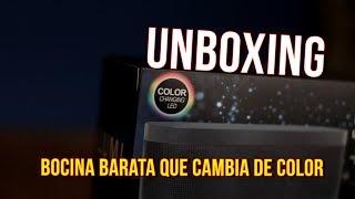 Bocina barata que cambia de color LED LUMI Light up speaker Unboxing