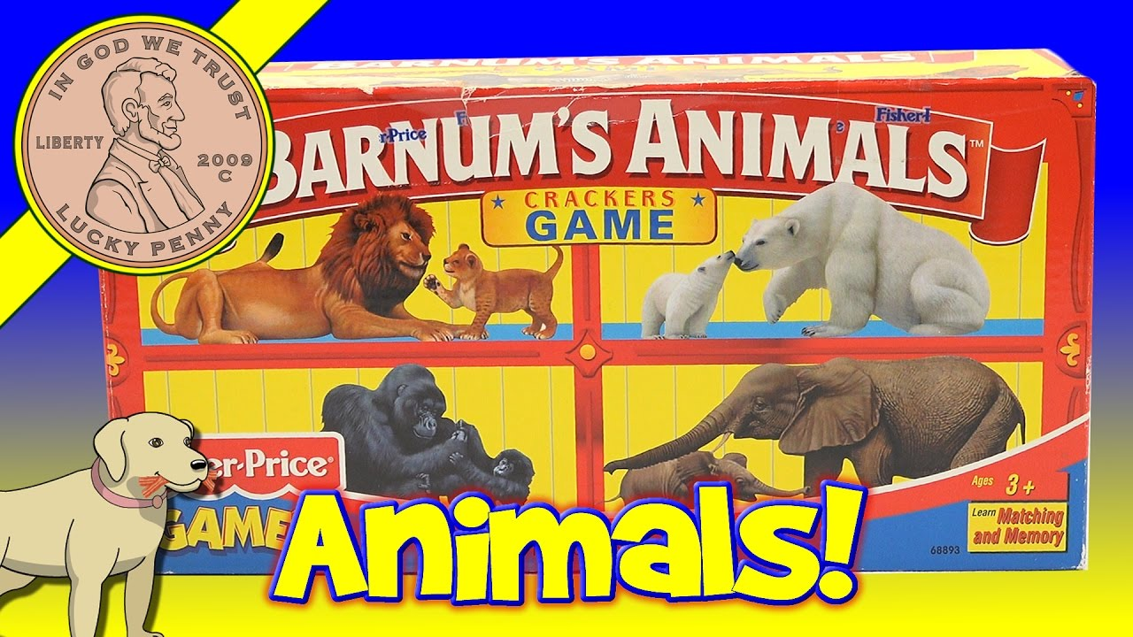 Barnum's Animals Crackers Matching Memory Kids Game
