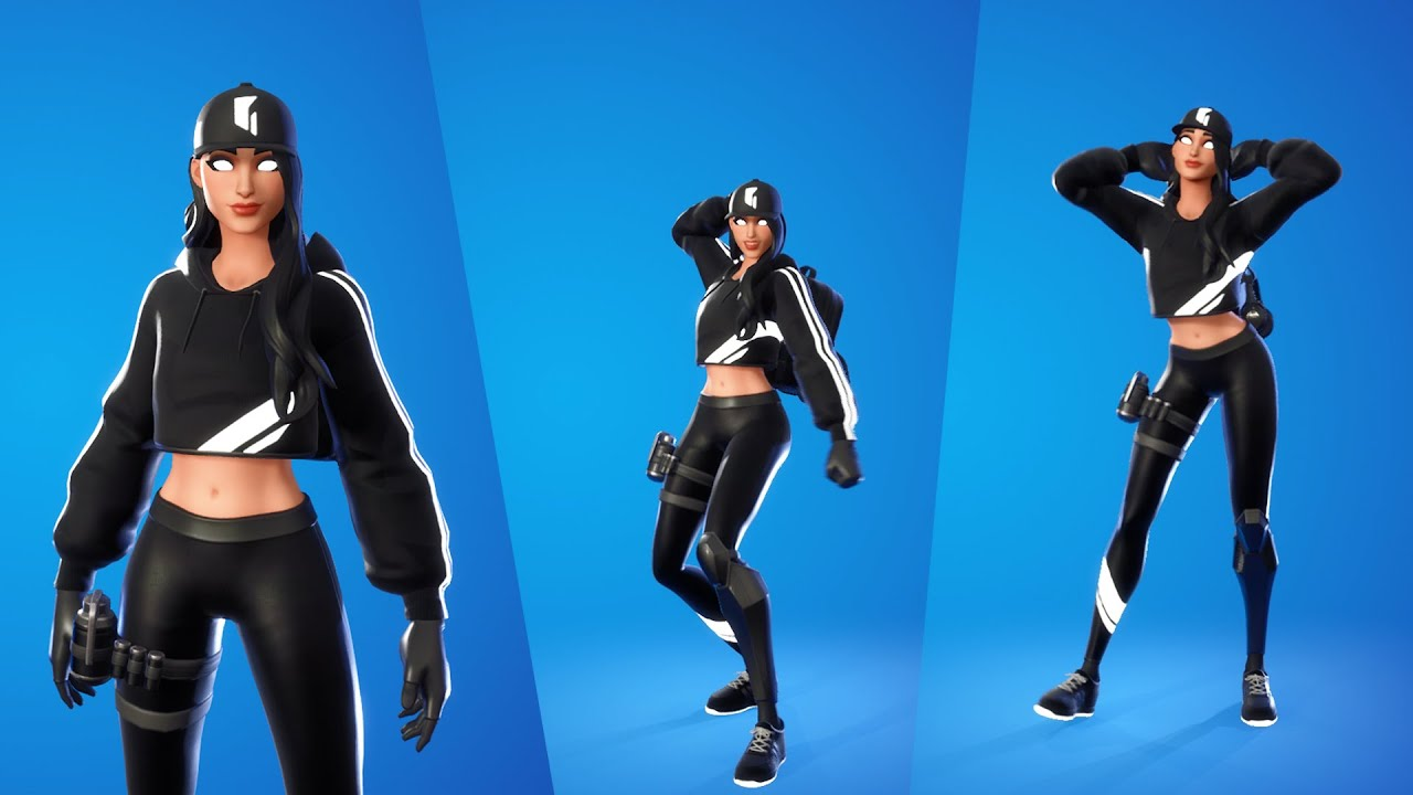 Download Ruby Shadows Skin showcase with popular Emotes & Dances   Ruby skin Combos