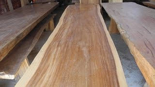 Suar Wood Furniture | Solid Wood Dining Table Slab