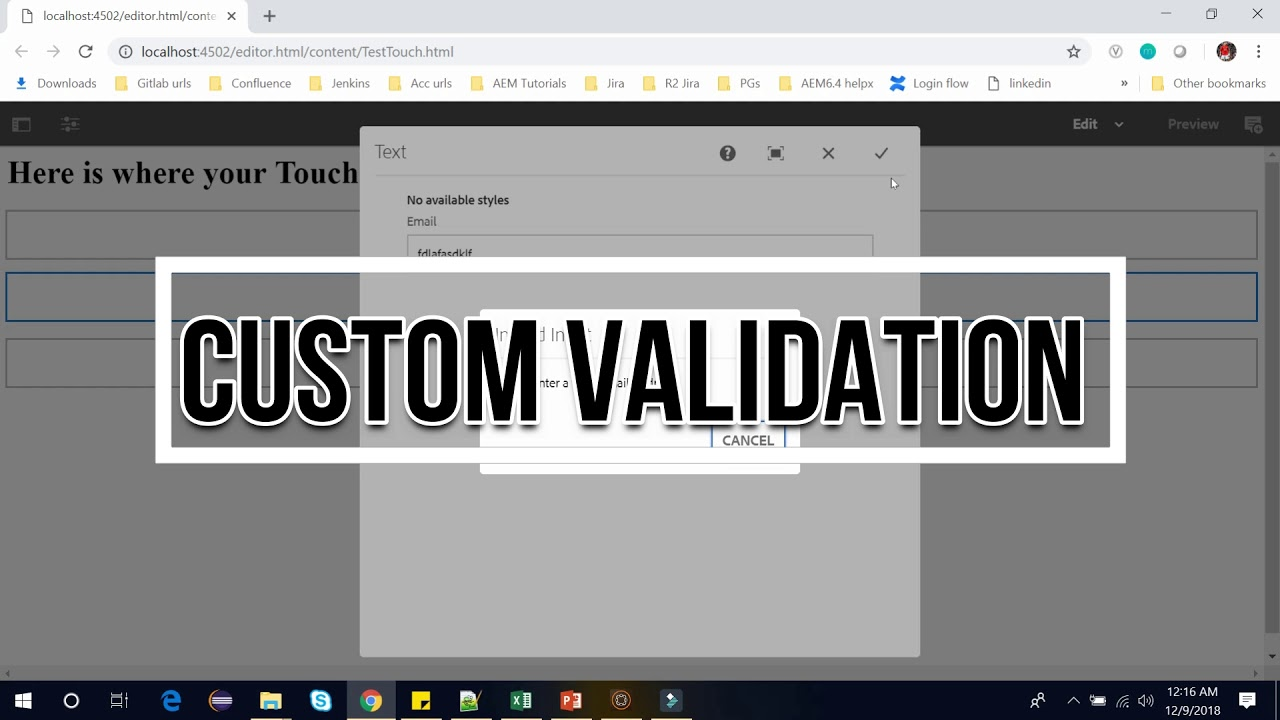 74  Introduction of Validation in AEM touch ui Dialog